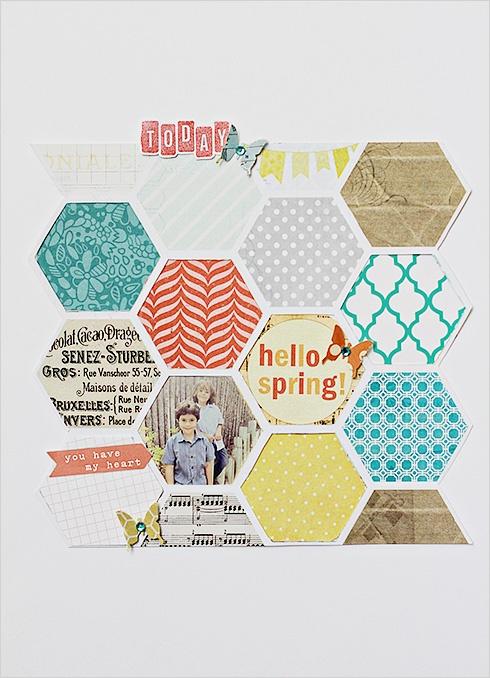 hexagon <3Hello Spring, Studios Blog, Web Inspiration, Elle Studios, Spring Design, Design Graphicdesign, Hexagons Layout, Website Inspiration, Fascinators Pattern
