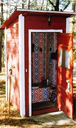 designer outhouse.