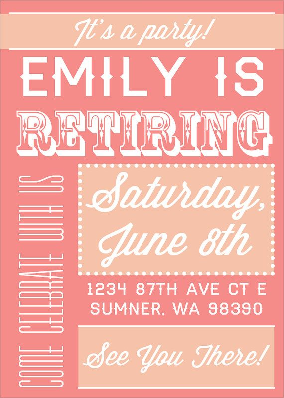 15 best Teacher Retirement Party Invitation Wording images on - best of invitation quotes for teachers