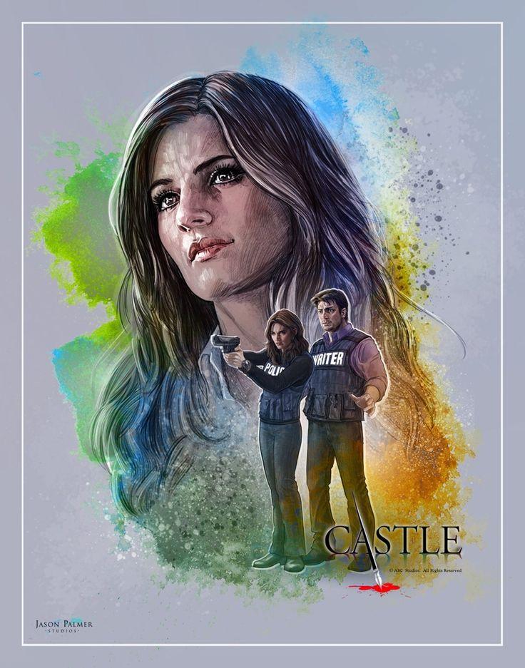 Stana Katic & Castle Art by Jason Palmer