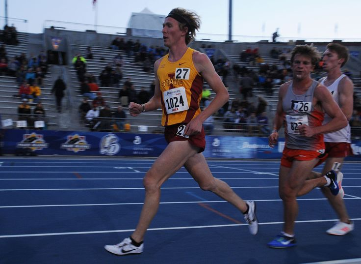 Iowa State's Sam Clausnitzer runs during the 10,000-meter run in the Drake Relays at Drake Stadium Thursday, April 27, 2017, in Des Moines, Iowa. Photo by Nirmalendu Majumdar/Ames Tribune http://www.amestrib.com/sports/20170427/track-and-field-brown-takes-12th-in-drake-relays-5k