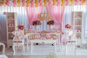 Ideias para você fazer um Chá de Bebê Coroa de Princesa Provençal usando o kit personalizado gratuito do blog, clique e inspire-se