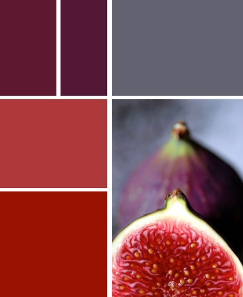 """figs - can I paint my entire future house in these kind of colours... do you think Alex will let me...? I'll replace the """"dark nipple pink"""" (don't ask about that colour... blame my gran) with the greeniness from the top of the fig?? Hmmm...?"""