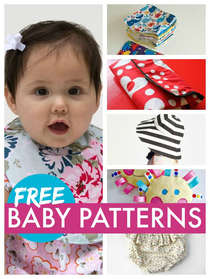 Free baby patterns that are super simple to sew so you can get the perfect baby accessories ... everything from bibs and burp cloths to receiving blankets and feeding covers ... check them out ..