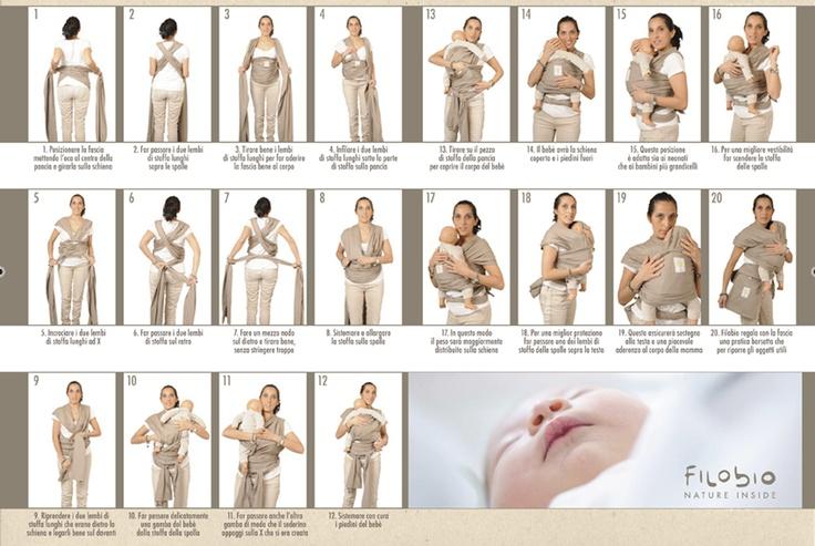 """La nostra Silvia ci aiuta a capire le """"mosse"""" strategiche per indossare a fascia"""