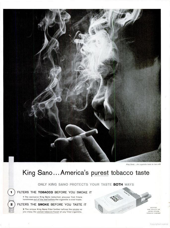 King Sano Cigarettes (1962)