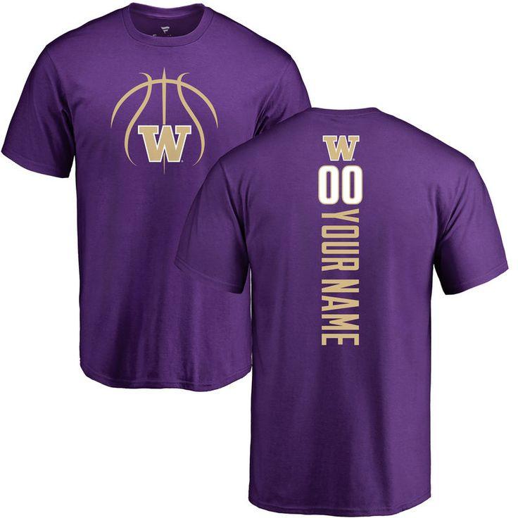 Washington Huskies Basketball Personalized Backer T-Shirt - Purple