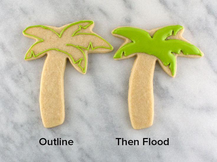Palm tree cookies step 1
