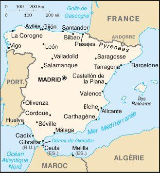 Espagne : carte et plans
