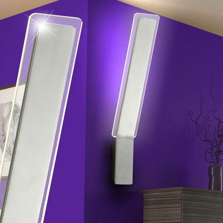 Superb  Watt LED Chrom Acryl Glas Design Wand Lampe Wohnzimmer Flur Strahler Leuchte