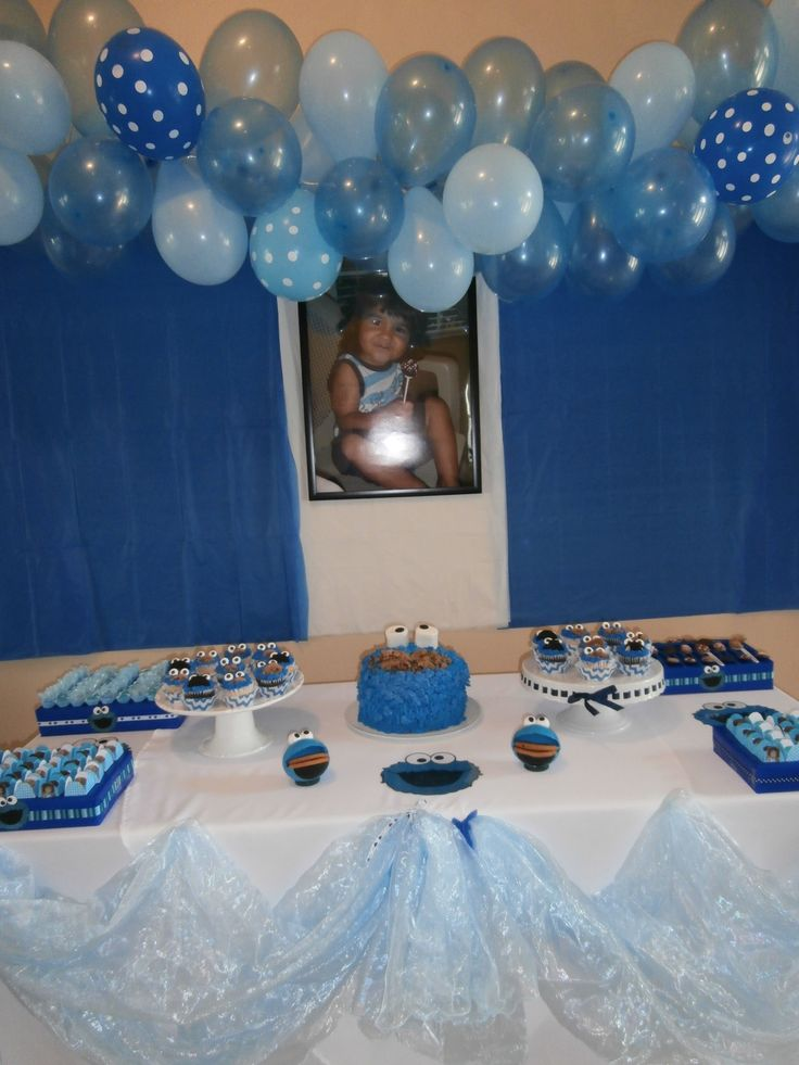 Cookie Monster Birthday Party My Son Samuel S Cookie
