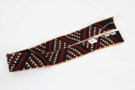 A Maori Taniko Weaving Band | Webbs – New Zealands Premier Auction House: Fine, Tribal & Decorative Arts, Jewellery, Books, Wine, Cars & Bikes, Valuations