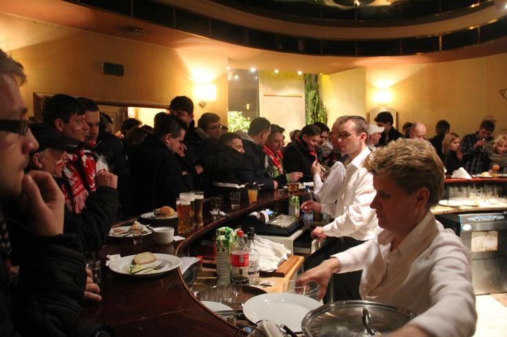 Post-match pints and punditry in one of Warsaw's best bars, Przekąski Zakąski