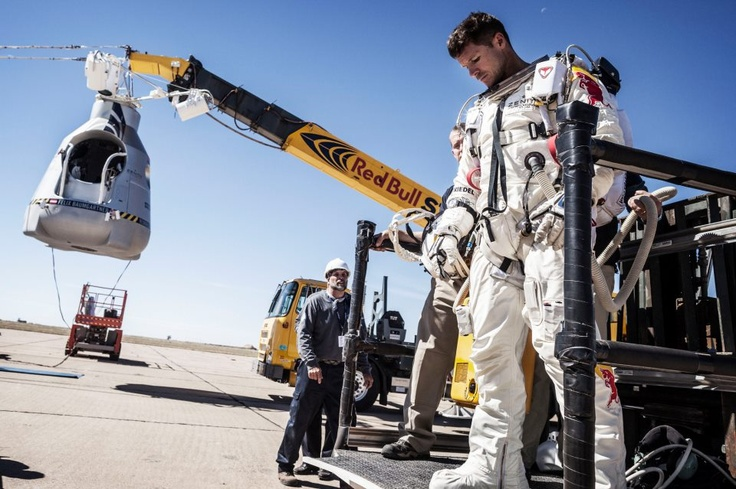 "Mission Accomplished: Felix Baumgartner completes a World Record Breaking Jump.    http://win.gs/P3udMH    ""Sometimes you have to go up really high to understand how small you are."" Felix Baumgartner    Preliminary Figures:  Altitude: 128,097 ft  Duration of freefall: 4:19  Total jump time: 9:03  Speed: 1137 kmh (Mach 1.24) 833 mph"