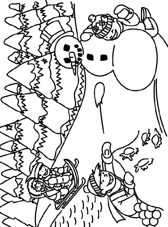 winter outdoors coloring page - Crayolacom Coloring Pages