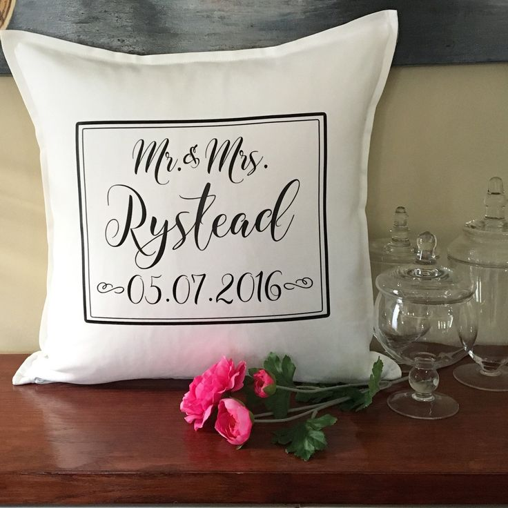 Wedding season is here. Do you have your gift?  These personalized wedding date pillows are a fantastic wedding reception decor piece or wedding gift