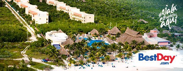 Catalonia Royal Tulum es un hotel con 288 habitaciones, preocupado por la ecología, por lo que su construcción respeta el entorno natural que le rodea, incluyendo árboles, manglares y nacimientos de agua. Ubicado a la orilla de la playa, ofrece un plan Todo Incluido dirigido a las personas mayores de 18 años que deseen vacacionar en el área de Xpu-Há, en la Riviera Maya. #OjalaEstuvierasAqui