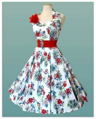 50's Fashion for fourth of July. I sure remember the stretch belts.  =)