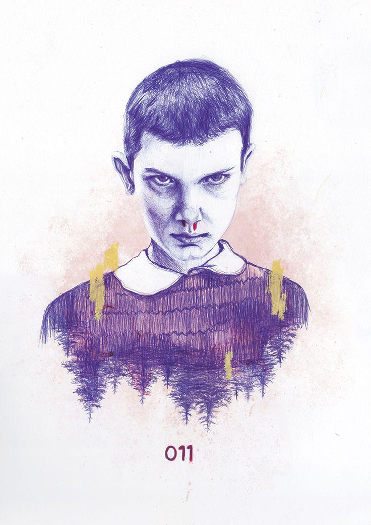 011 > Poster Stranger Things Illustration: bic pen + ink + photoshop