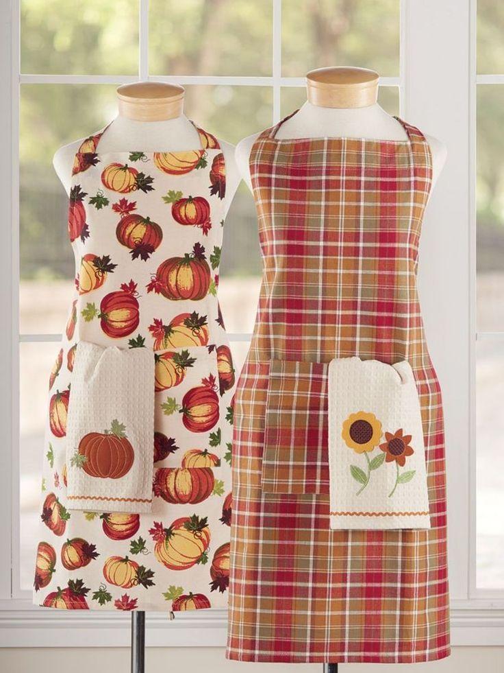 #PumpkinPatchApron #ThanksgivingApron #PumpkinApron #HarvestPlaidApron #HalloweenApron #Thanksgiving #JoSam1129  Pumpkin Patch Apron or Plaid Apron - Pumpkin Kitchen Apron - Plaid Kitchen Apron #KitchenApron #Country
