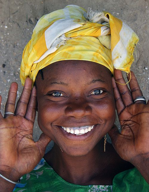 Gambian Fulani girl, despite the very little they posess...