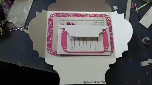 Quinceanera invitations w rsvp card