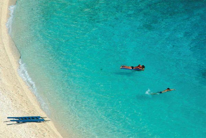 https://www.facebook.com/PoseidonHolidaysAndTours?ref=hl Swimming in Agiofylli beach, Lefkada island ~ Greece