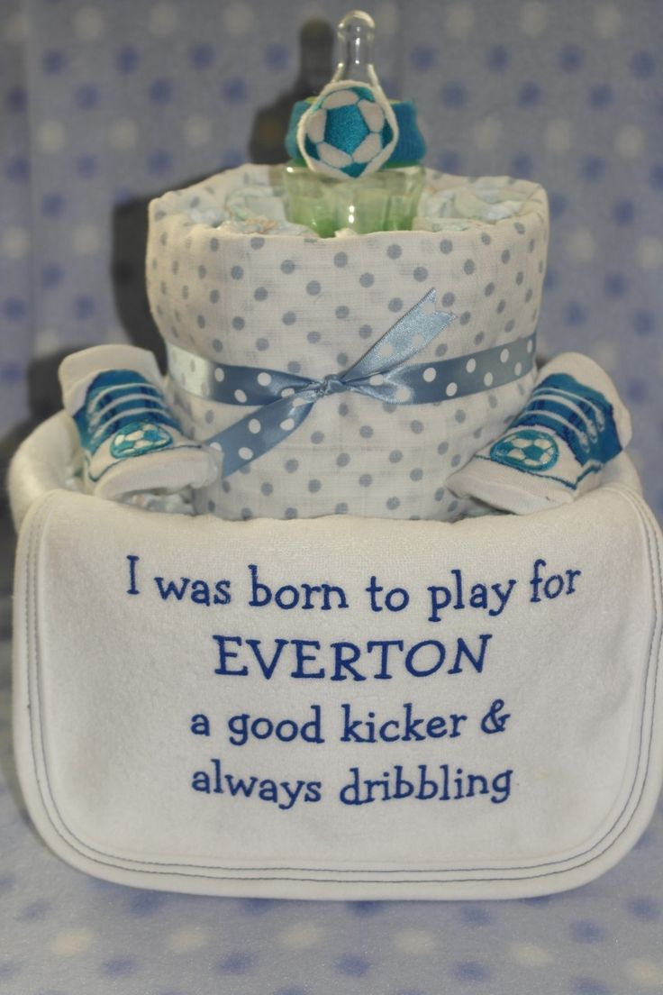 Baby cribs liverpool - Nappy Cakes And Baby Gifts Ginasbabyboom Everton Fc Nappy Cake 17 00