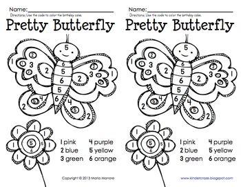 color by number butterfly worksheets pinterest color by numbers numbers and butterflies. Black Bedroom Furniture Sets. Home Design Ideas
