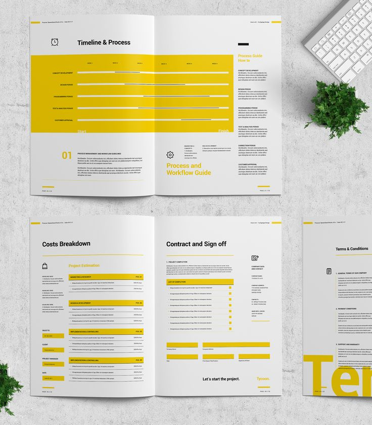 Tycoon Studio Series – Proposal and Portfolio TemplateMinimal and Professional Proposal Brochure template for creative businesses, created in Adobe InDesign, Microsoft Word and Apple Pages in International DIN A4 and US Letter format.This Proposal …