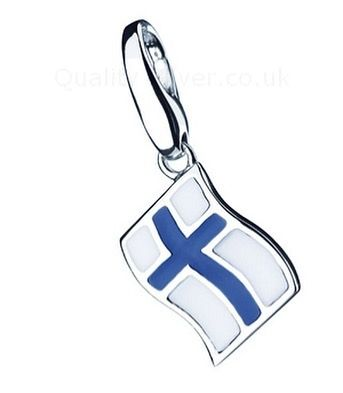 Just back in stock ! #silver #finland #flag #charm #travel #worldtravel