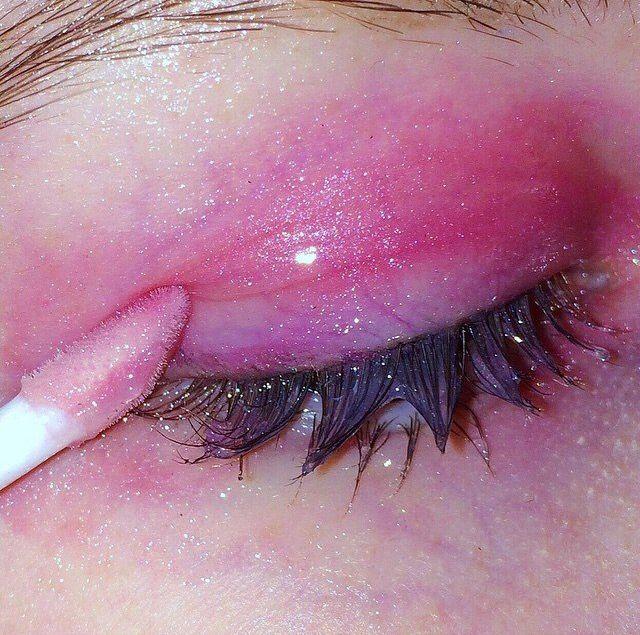 Pink eye gloss.