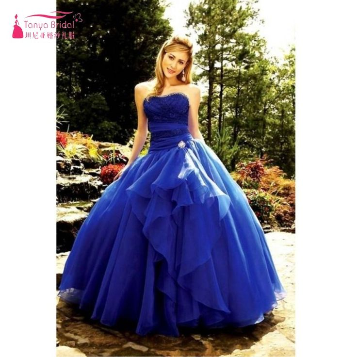 Find More Quinceanera Dresses Information about Ball Gown Blue Organza Quinceanera Dress Sleeveless Sweetheart Lace Up Prom Dress Gown TB2327,High Quality dresses ladies,China dress princes Suppliers, Cheap dresses for petite girls from Tanya Bridal Store on Aliexpress.com