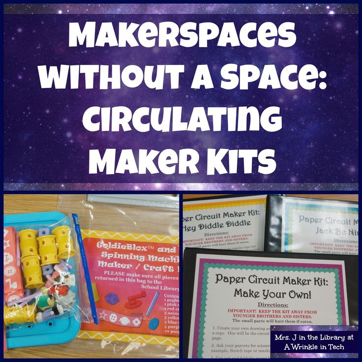 Makerspaces Without A Space: Circulating Maker Kits for the School Library, plus FREE MARC Records | Mrs. J in the Library @ A Wrinkle in Tech