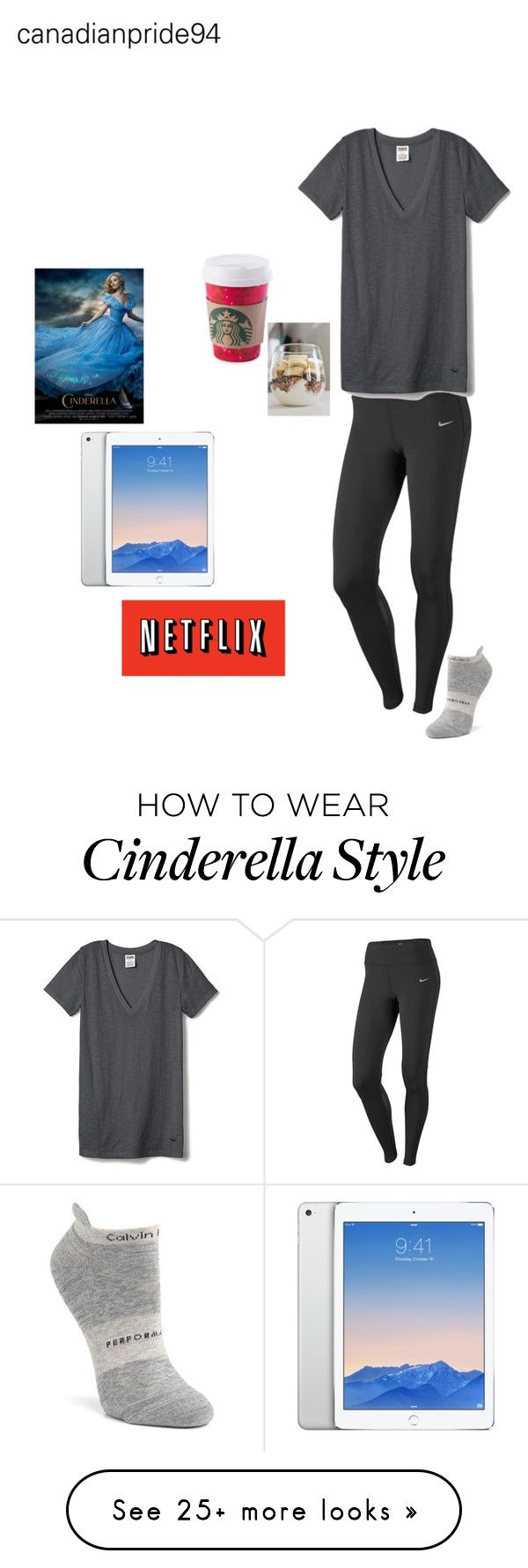 """night in with Johnny"" by canadianpride94 on Polyvore featuring NIKE, Calvin Klein, Victoria's Secret PINK, women's clothing, women's fashion, women, female, woman, misses and juniors"