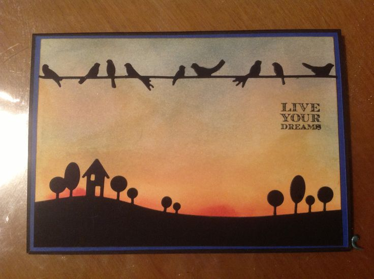 Live your dreams Farewell card