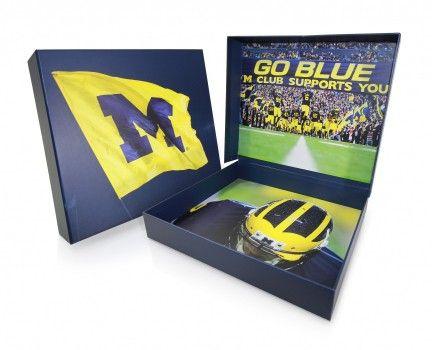 Cedar Packaging   University of Michigan Ticket Presentation Box
