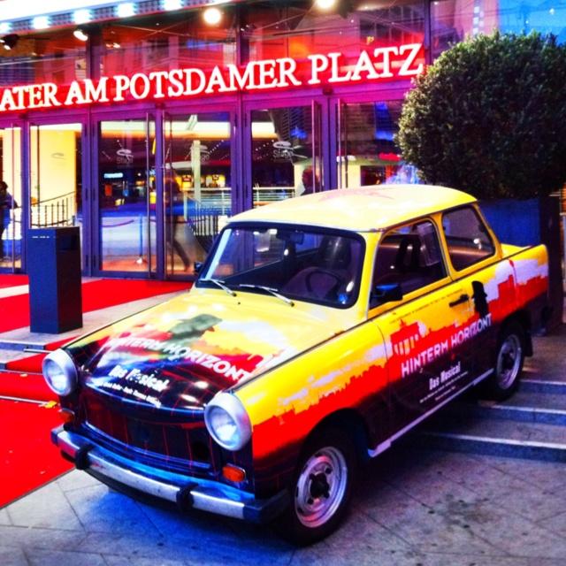"Trabant 601 at the Potsdamer Platz, Berlin - Musical ""Hinterm Horizont"""