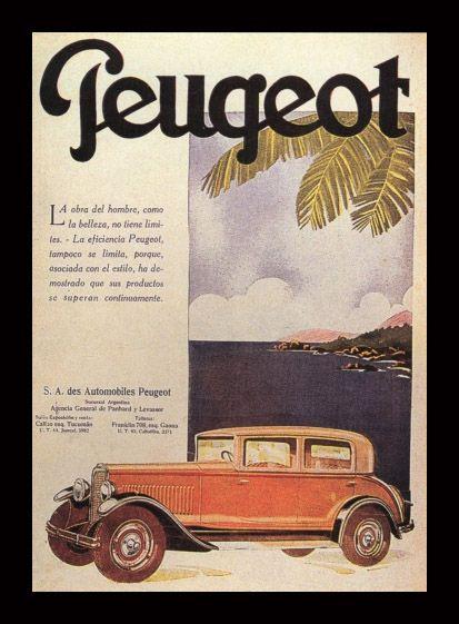 Peugeot. Publicidad antigua.