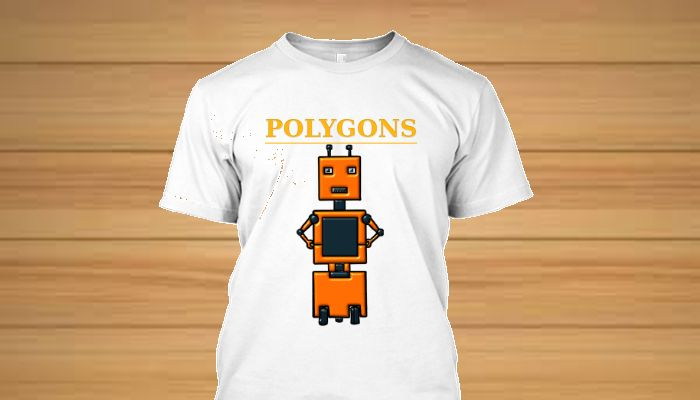 Camisetas personagens originais Familia Polygons - Droid