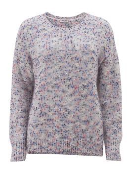 Baum Und Pferdgarten Colette Cloud Dancer Jumper: This mohair-blend sweater with multi-coloured dots looks great layered over a white shirt and worn with jeans. It has a relaxed lose fit so consider taking the size down if you prefer a closer fitting jumper.