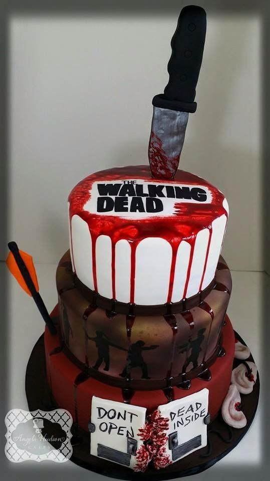 Bloody Walking Dead Cake by Angela Hudson Cakes