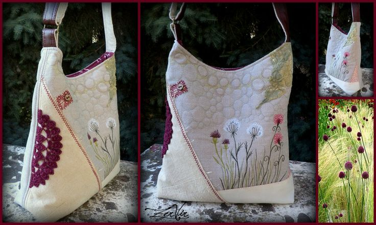 Embroidered bag with wild flowers by ZerVir