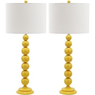 Jenna Stacked Ball 1-light Yellow Table Lamps (Set of 2) | Overstock™ Shopping - Big Discounts on Safavieh Lamp Sets