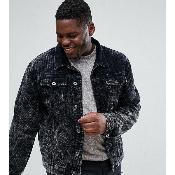 Liquor N Poker PLUS Corduroy Jacket (868.670 IDR) ❤ liked on Polyvore featuring men's fashion, men's clothing, men's outerwear, men's jackets, black, mens distressed leather jacket and mens corduroy jacket