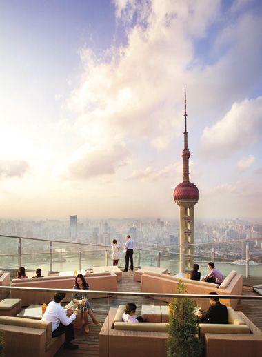 Flair Rooftop Bar at the Ritz Carlton Pudong, Shanghai, China