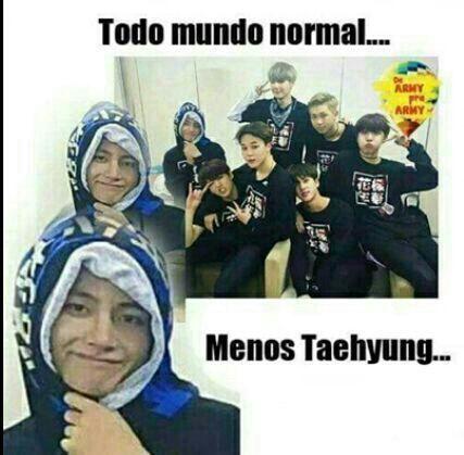 Taehyung é uma fábrica de memes