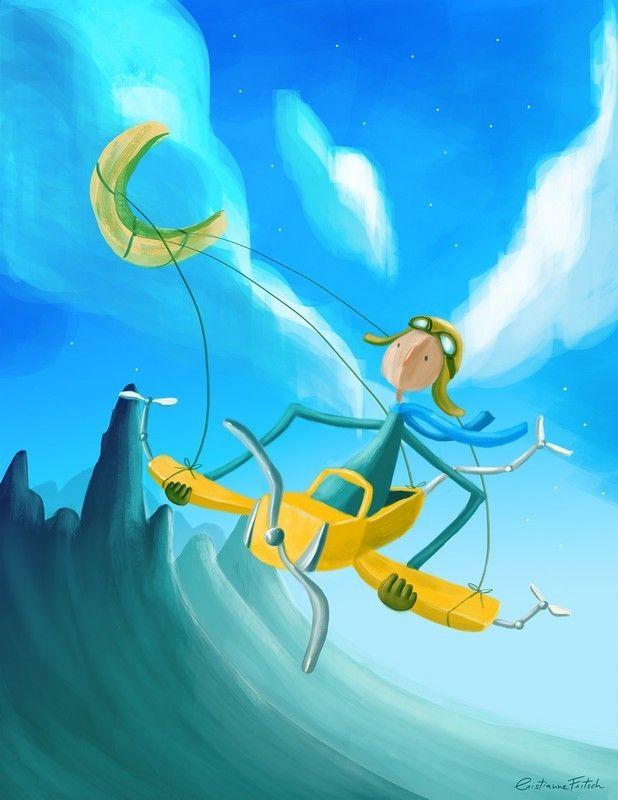 Flying Pilot, Cristianne Fritsch on ArtStation at https://www.artstation.com/artwork/Qx3Pl