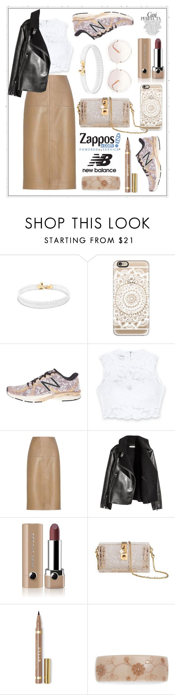 """Run the World in New Balance #448"" by meryflower ❤ liked on Polyvore featuring Vanessa Mooney, Casetify, New Balance, Bebe, By Malene Birger, Marc Jacobs, Dolce&Gabbana, France Luxe, Chloé and Whiteley"
