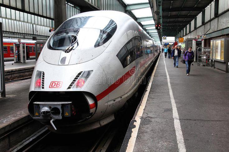 Germany express train. STUTTGART, GERMANY JULY 24